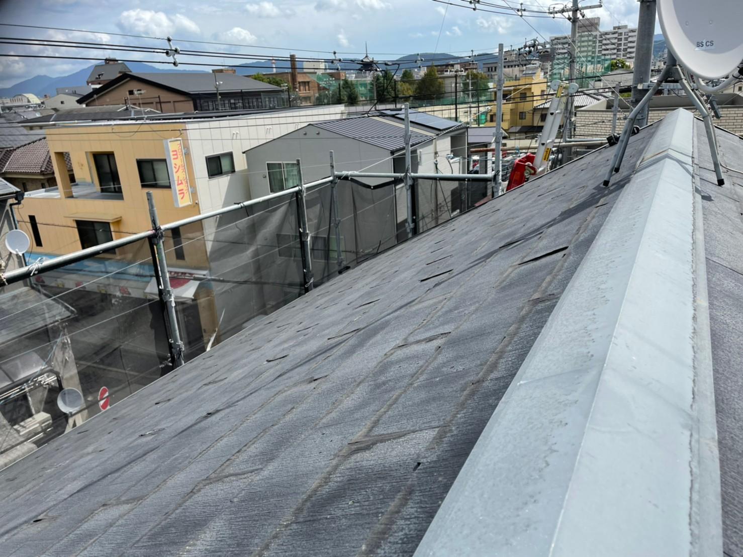 京都府京都市南区にてカラーベスト屋根と外壁のリニューアル工事