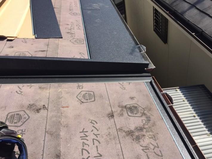 水切り板金と軒先施工