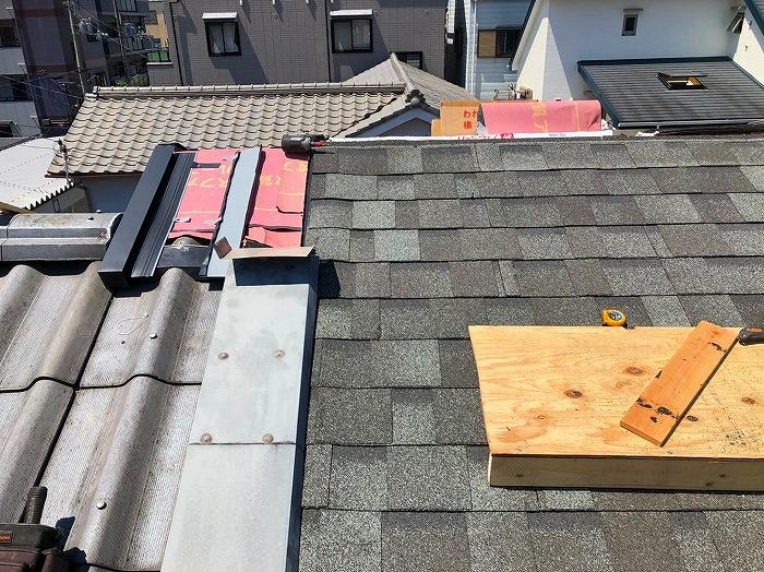 隣接屋根取り合い