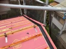 水切り板金の設置