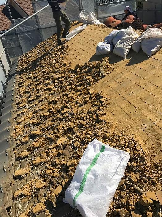 屋根葺き土