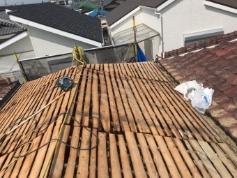 屋根捲り後