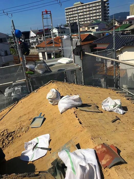 屋根葺き土土嚢袋