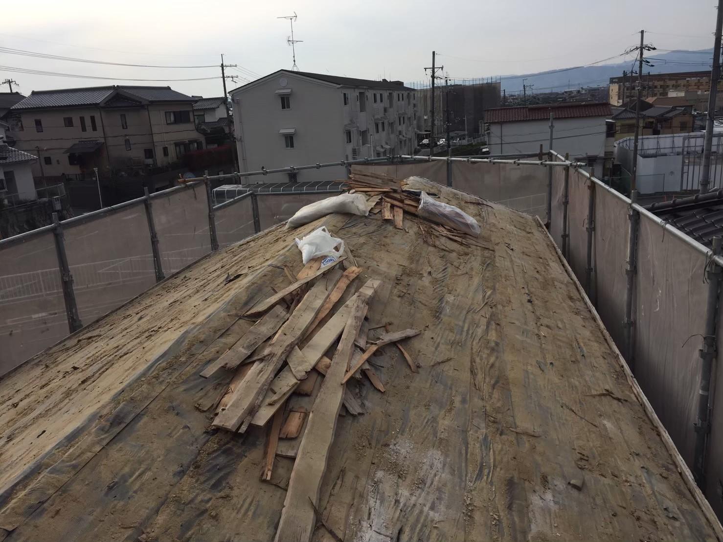 横桟の撤去作業