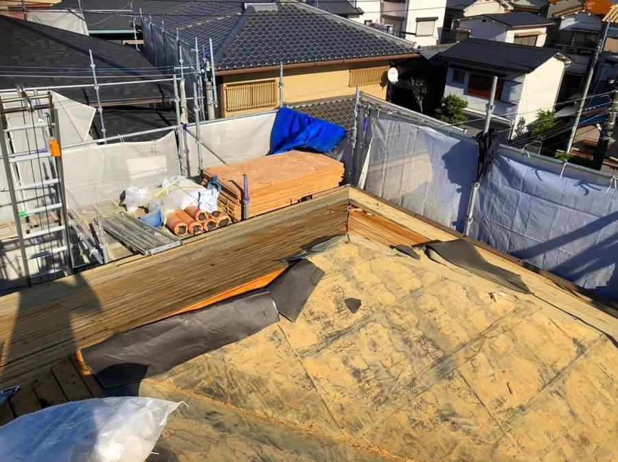 葺き替え既存屋根撤去