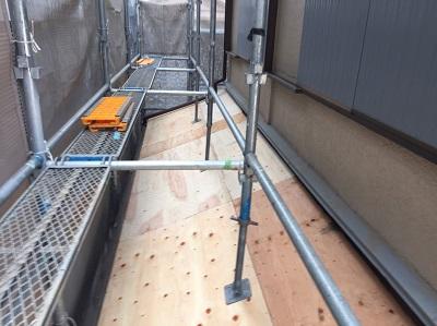 下屋 構造用合板貼り
