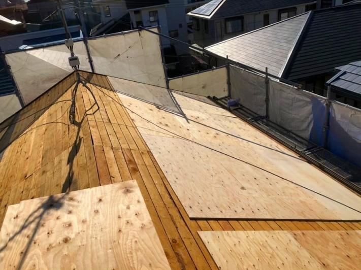屋根下地新設構造用合板