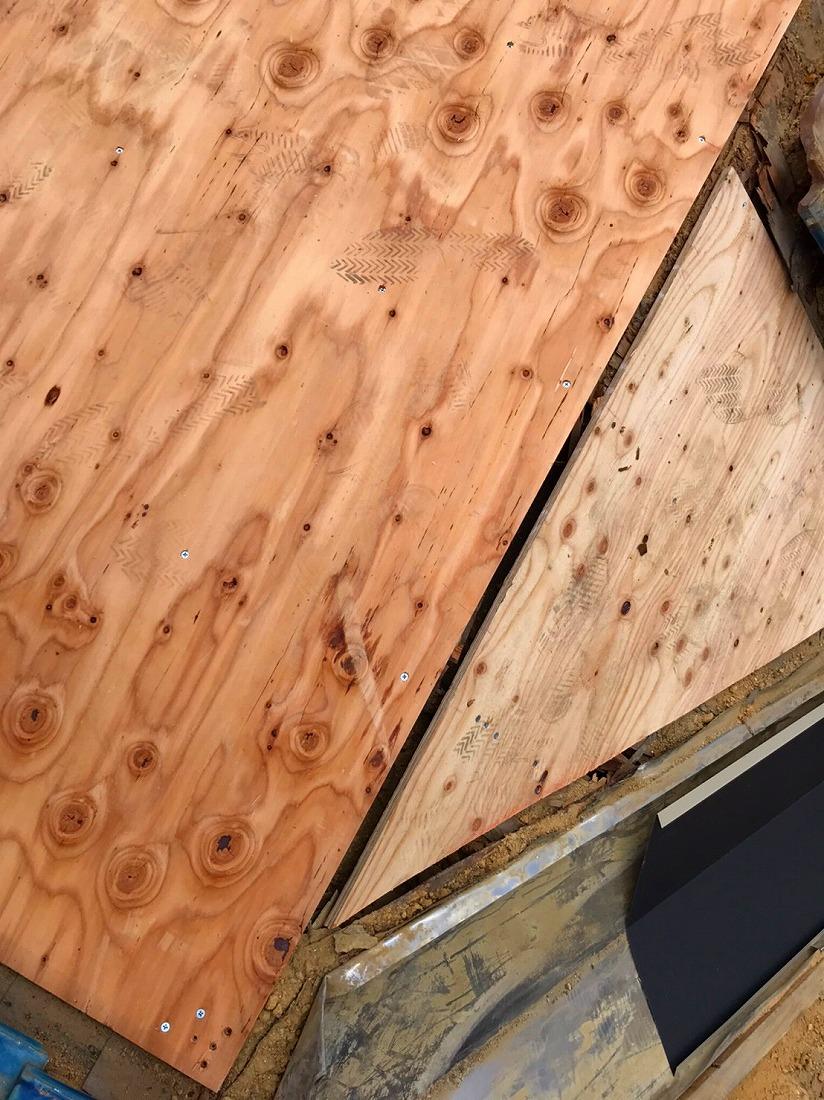 下地の新設構造用合板