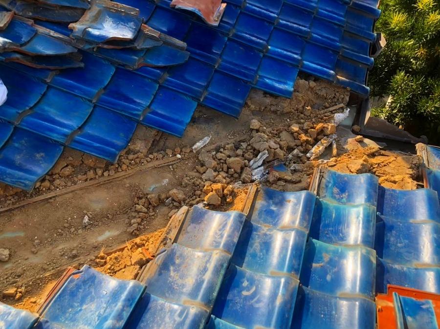 谷瓦谷樋の解体