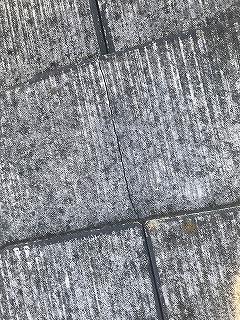 スレート屋根雨漏り部