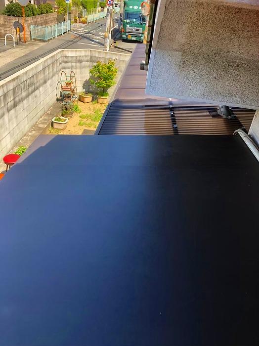 玄関庇板金完工