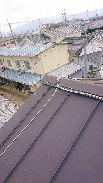 アパート屋根棟部