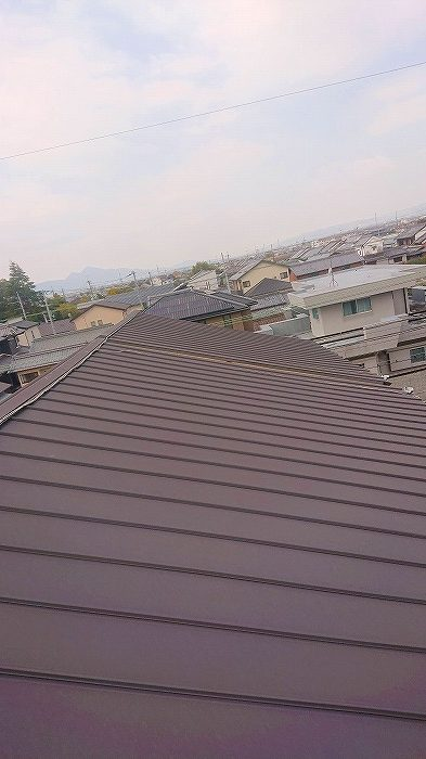 アパート屋根平面部