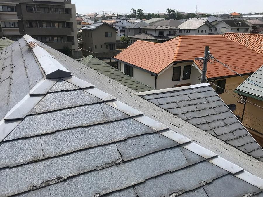 カラーベスト屋根経年劣化