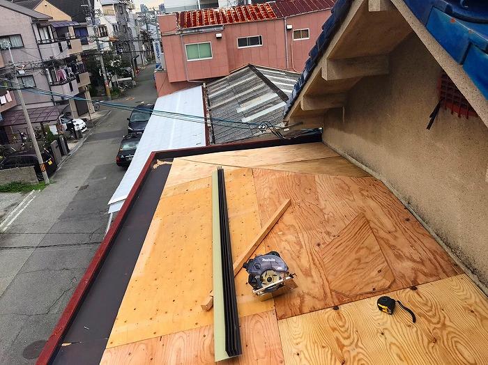 パラペット屋根構造用合板