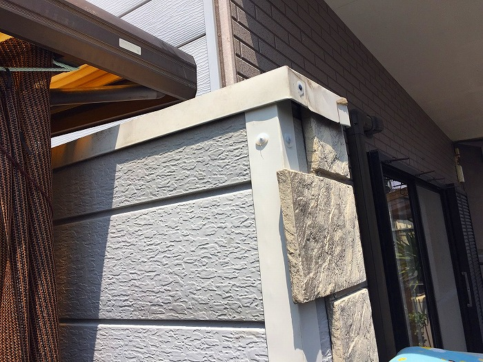 金属サイディング板金外れ補修
