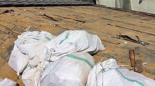 葺き土土嚢袋