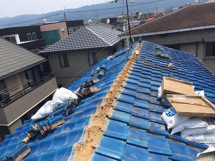 青緑瓦棟の撤去
