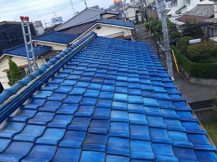 青緑棟瓦積み直し完工
