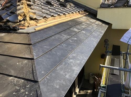 晒し屋根平葺き