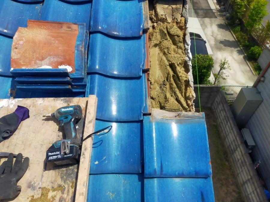 青緑屋根復旧工事