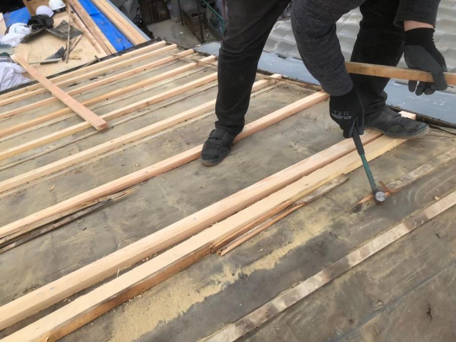 屋根の嵩調整