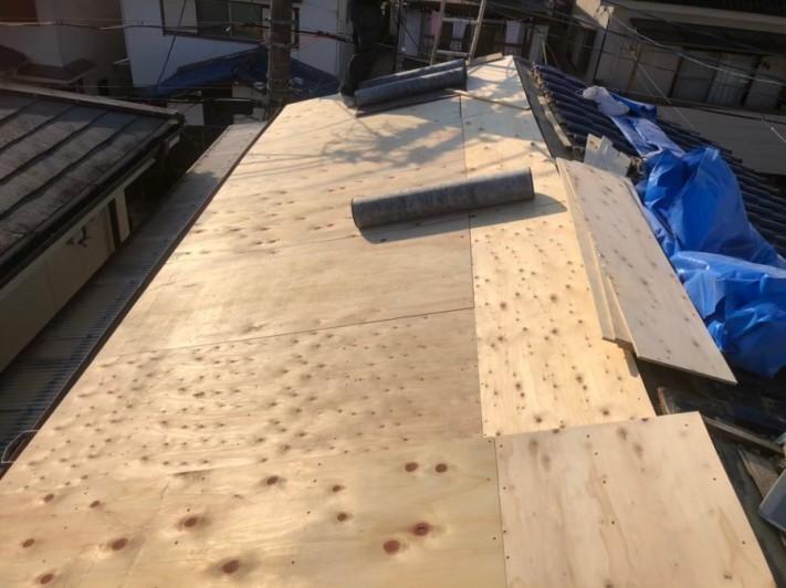 屋根下地補強