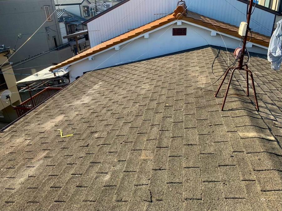 かわらUの撤去後の屋根下地