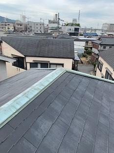 城陽市で水気に強い樹脂製タフモック材を使用し棟板金交換の屋根修理