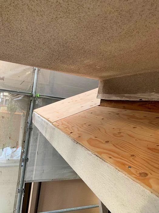 小屋根構造用合板貼り
