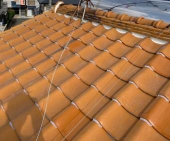 釉薬瓦屋根(オレンジ) ラバー済み