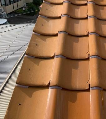 釉薬瓦屋根(オレンジ)ケラバラバー済み