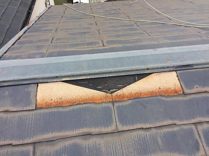 屋根材カラーベストめくれ