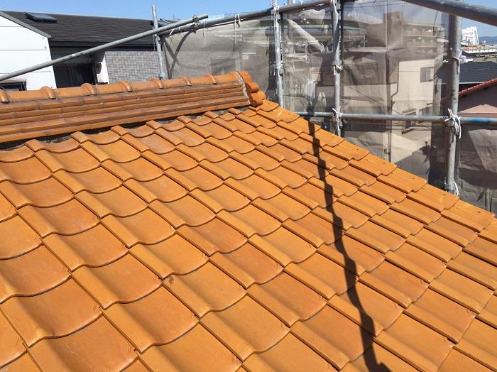 施工前 釉薬瓦屋根