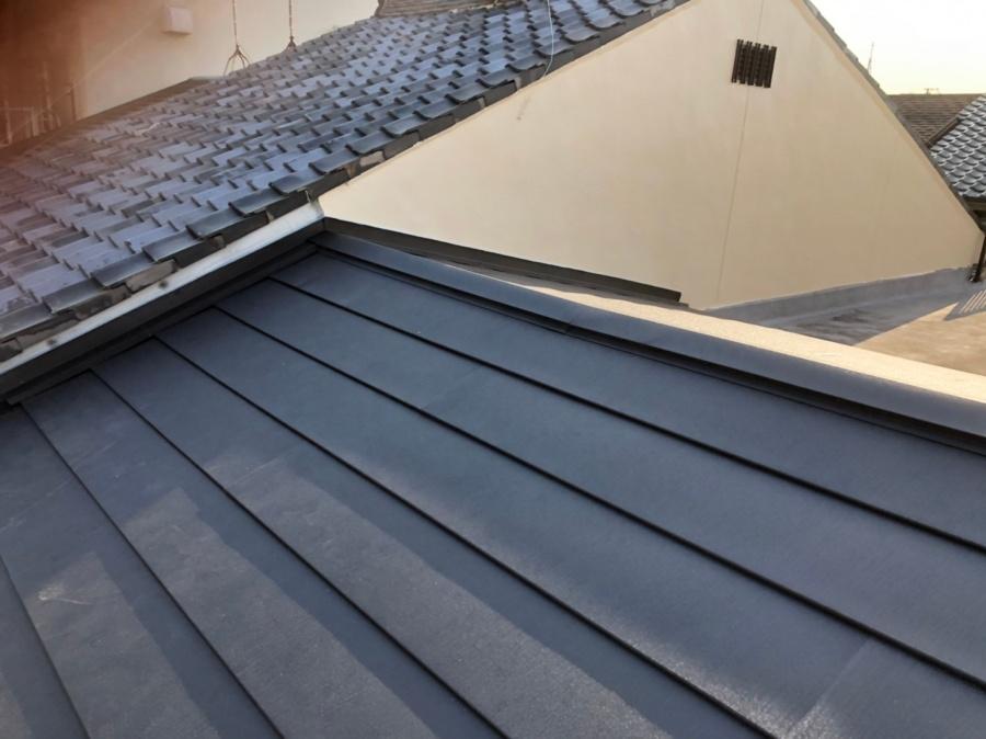 シングル屋根ガルテクトカバー工法