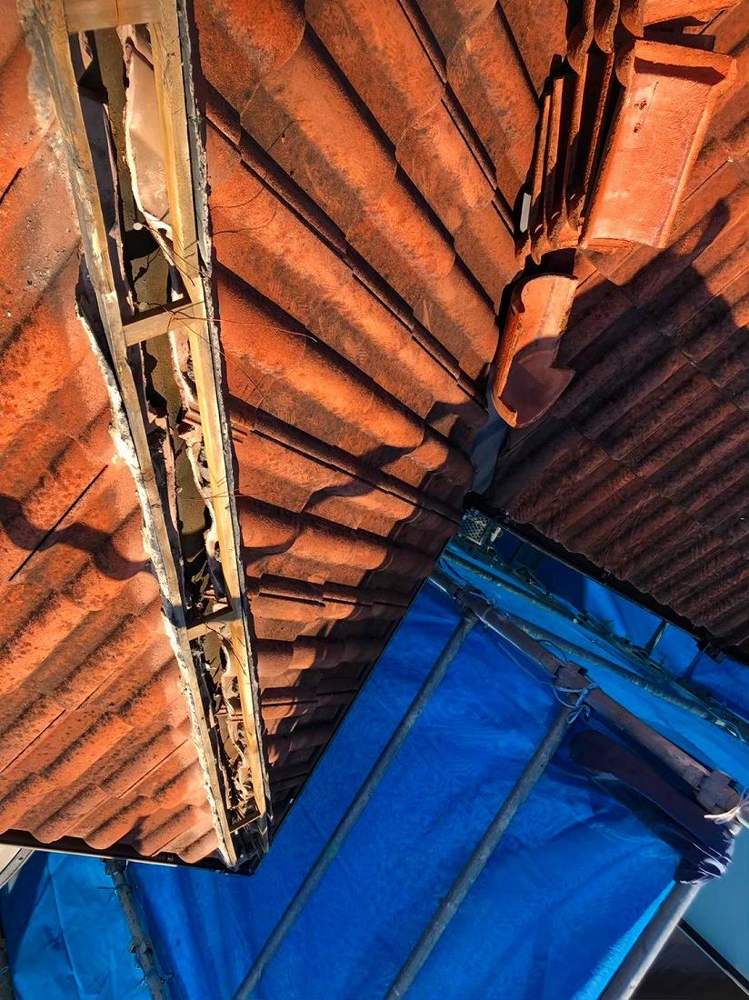 セメント瓦強化棟補強