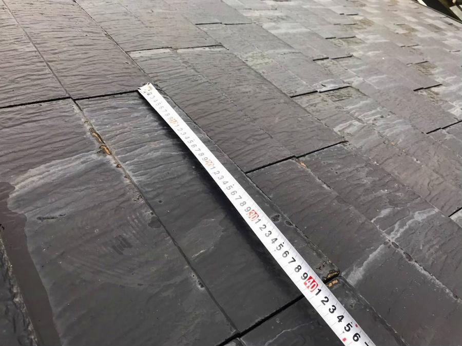 瓦のサイズ測定