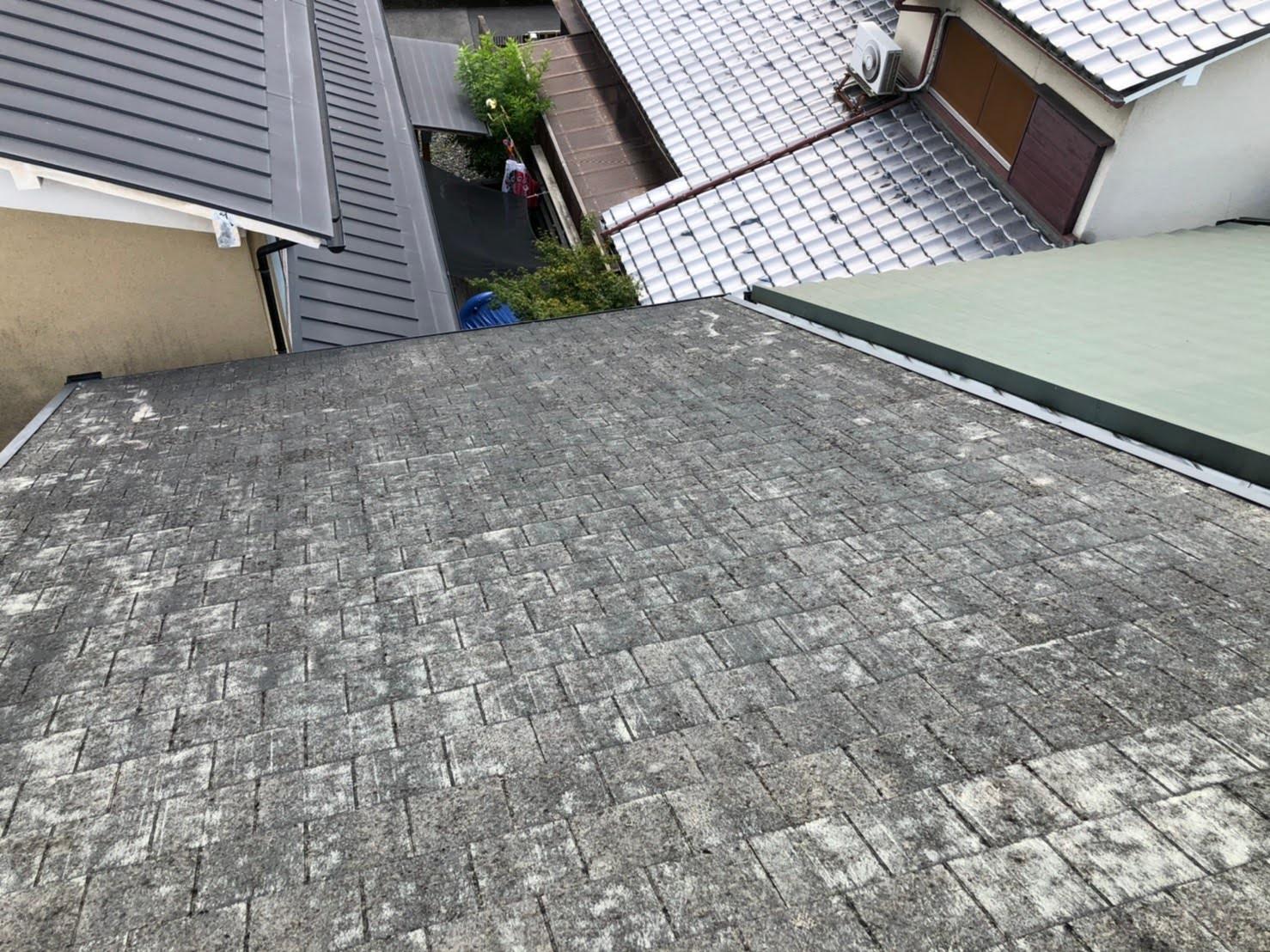 京都府八幡市にてスレート屋根を金属屋根のガルテクトへリフォーム工事